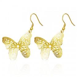 Zlacené náušnice Motýlky...