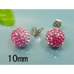 Náušnice Ball Pink S845...