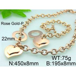 Set Heart Rose Gold:...