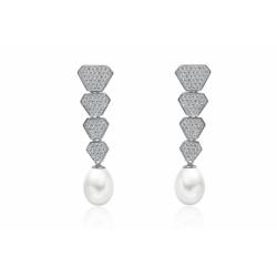 Stříbrné perlové náušnice...