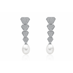 Strieborné perlové náušnice...
