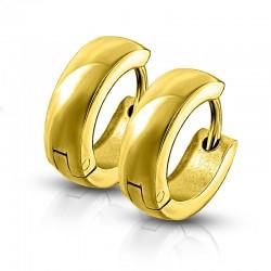 Náušnice zlacené kroužky AN1088G chirurgická ocel