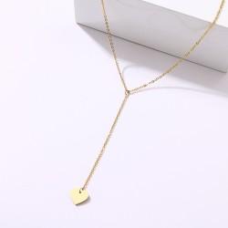 Zlacený náhrdelník se zavěšeným srdíčkem AD0203G chirurgická ocel