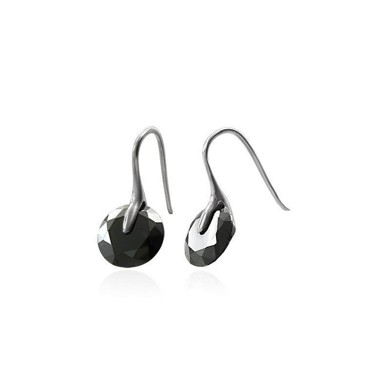 4f8ee41f8 Náušnice s čiernym zirkónom Luxus N639 chirurgická oceľ - Donela.eu