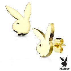 Zlacené náušnice Playboy...